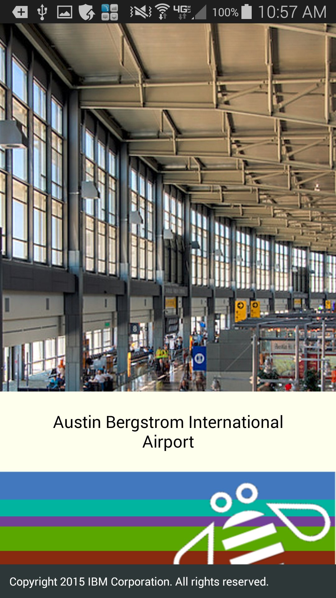 Screenshot of loading screen from IBM Accessible Airport App